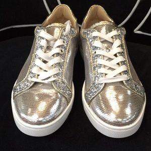 Silver Seava Glitter Sneakers
